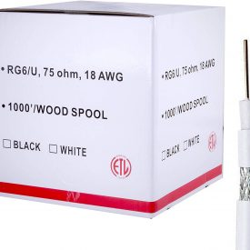 18AWG//2 Five Star Cable RG6//U Siamese 500 Ft Coaxial CCTV ETL Litsted Combo